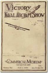 H T Cubberley / Poster Victory Naval Aircraft Show Commercial Museum 1919