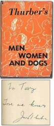 James Thurber / Men Women And Dogs Signed 1st Edition 1943
