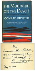 Conrad Richter / Mountain On The Desert A Philosophical Journey 1st Edition 1955