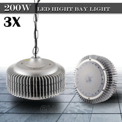 3x 200W LED High Bay Lamp Commercial Warehouse Industrial Factory Shed Lighting