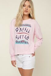 $29 O'neill REBEL LS Women's Top Surf Casual Beach NEW LONG SLEEVE Pink Large $11.99