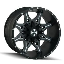4 New 20x9 Cali Off-Road Obnoxious Black WheelRim 8x180 8-180 20-9 ET0