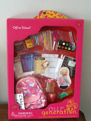 Our Generation Back to School Backpack Supplies Playset 18quot; Girl Doll American $33.99