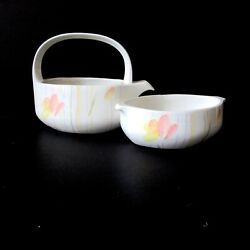 Midwinter Wedgwood Style Modern Creamer And Sugar Bowl Made In England White New