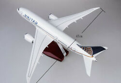 1130 Scale United Airlines Boeing B787 Replica Airplane Plane Model Toy Gift