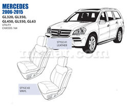 Mercedes Gl Class Front Leather Seat Cover Set 2006-12 Oem New
