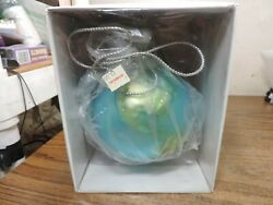 Dept 56 5 Large Globe Ornament Made From Mercury Glass - Handpainted