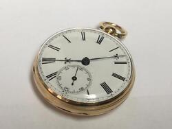 18ct Gold English Fusee Open Faced Pocket Watch