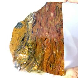 442.00cts 100 Natural Golden Pietersite Polished Rough Slab Raw Material Aj4142