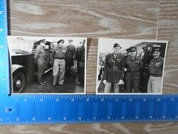 Rare Vintage Ww2 Photo Unpublished 8th Air Force Field Marshall Montgomery 100c