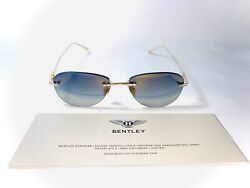 BENTLEY sunglasses men titanium  GOLD PLATE 22 kt limited edition gift