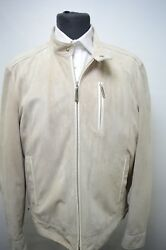 NEW 10550,00 $ STEFANO RICCI  Outwear Top Over Coat Leather  Us M Eu 50 (G144)