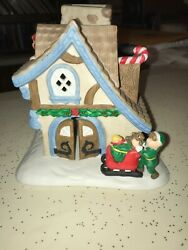 PartyLite Tealite  Candle Holder Santa's Workshop Christmas House
