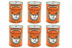 Oilzum Oil Can Coin Bank Set For Harley Davidson By V-twin