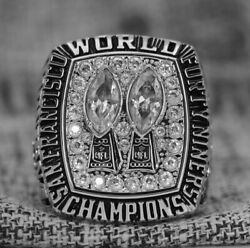 Special Edition San Francisco 49ers Super Bowl Ring 1984 In 925 Solid Silver