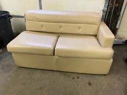 Flexsteel 61 Tan Sofa Bed Pull Out Rv Boat Motorhome No Mattress Used