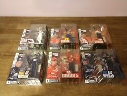 New Lot Of 6 Mcfarlane Toys Nascar Action Figures Series 1 2003 Dale Earnhardt