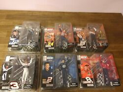 New Lot Of 6 Mcfarlane Toys Nascar Action Figures Series 1 2003 Mature Edition