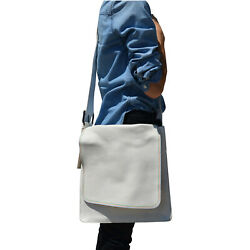 Marc by Marc Jacobs Leather Triple Stitching Messenger Crossbody Bag White Multi $59.99