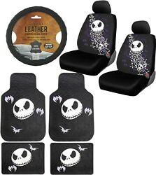 9pc Nightmare Before Christmas Car Floor Mats Seat Covers And Steering Wheel Cover