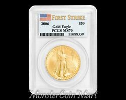 2006 50 Gold Eagle Pcgs Ms70 First Strike
