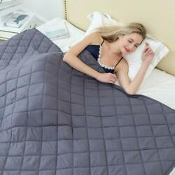Breathable Cotton Weighted Blanket Calm Sleeping Rhombus Design