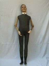 Antique French Full Size Male Mannequin Ca.1900-1920 69 Tall