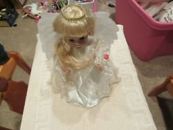 Doll , Fairy Princess , Battery Operated , White Dress , Vintage , Collectible
