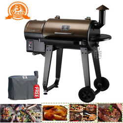 Z Grills Zpg-450a Wood Pellet Grill Bbq Smoker Outdoor Digital Control W/ Cover