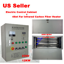 4sets Spray/baking Infrared Ir Paint Heating Lamp With Electric Control Cabinet