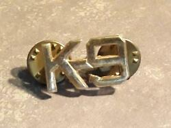 Vintage K9 Collar Lapel Pin Insignia Gold Tone Ships FREE
