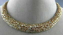 ESTATE LARGE GIA 42.93CT PINK DIAMOND 18KT ROSE GOLD CLUSTER ETERNITY NECKLACE