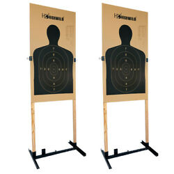 Adjustable Target Stand for Paper Silhouette Shooting Targets H Shape 2 Pack