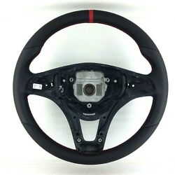Genuine Mercedes W205 Nappa Leather Retrimmed Paddle Shift Steering Wheel. 16a