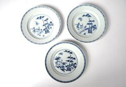 3 Dishes Porcelain China Company Indian Bamboos Ducks Garden Kangxi 18andegrave