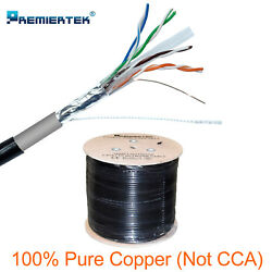 Pure Copper Ftp Cat6 1000ft Shielded Outdoor 23awg Cable Solid Direct Burial Uv