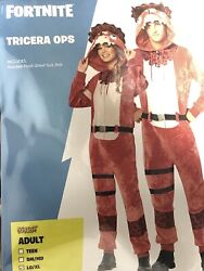 Fortnite Tricera Ops Halloween Costume Adult Sm/md New In Bag Cosplay Suit Belt