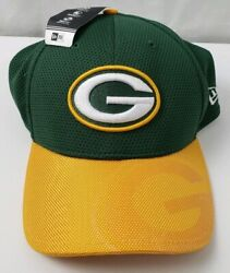 Green Bay Packers New Era 39thirty Stretch Baseball Cap New With Tags