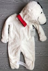 Pottery Barn Kids 2-Piece Snoopy Halloween Costume 3T