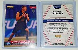 2017 Panini Mitchell Mitch Trubisky 6 Rc Rookie Combine Chicago Bears 1 Of 75