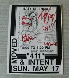 Original Autographed 411 And039boy Georgeand039 Flyer/handbill Easy St Theater 1991