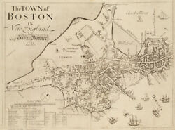 Map of the Town of Boston in New England 24x18