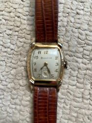 Vintage 1950s Bulova Yellow Gold / Stainless Mens Watch Excellent Condition