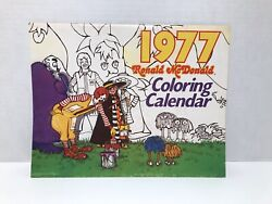 1977 Mcdonalds Hanging Wall Coloring Calender 12 Month