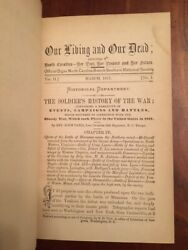 Rare 1875 Our Living Our Dead North Carolina Southern Periodical, 4 Bound Issues