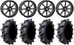 Sti Hd4 20 Wheels Black 35 Interforce 628 Tires Polaris Rzr Xp 1000 / Pro Xp