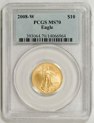 2008-W $10 Gold Eagle PCGS MS70  --  KEY DATE FOR THE SERIES!!
