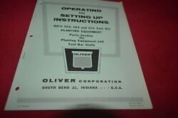 Oliver Tractor 152 162 172 Tool Bar Planting Equipment Operator's Manual Amil15