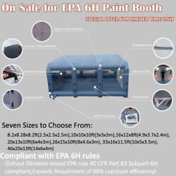 Inflatable Spray Booth Portable Paint Tent Mobile EPA 6H Filter System 2 Blowers