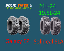 2 New 21l-24/ 21lx24 12 Ply Backhoe Tires - Galaxy Ez Rider Or Solideal Sla R4